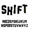 Abstract shift alphabet vector