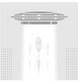 Ufo in a big city vector