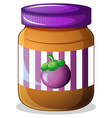 A jar of eggplant jam vector