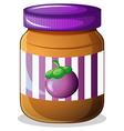 A jar of eggplant jam vector
