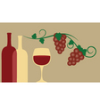 Red wine and grape vector