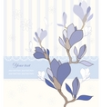 Greeting card with magnolia vector