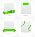 White card with ribbon vector