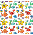 Seamless design with sea creatures vector