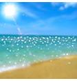 Sea beach and sun vector