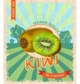 Kiwi retro poster vector
