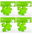 Green puzzles vector