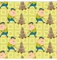 Worker porters seamless pattern vector