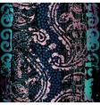 Grunge ethnic pattern vector