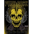 Poster skull and calendar for punk rock vector