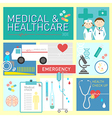 Medical and healthcare flat icon design vector