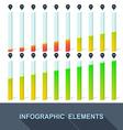 Progress infographics statistics with interest vector