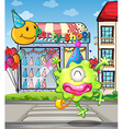 A happy monster from the party shop vector