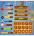 Game interface design vector