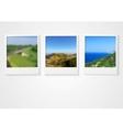Polaroid photo frames abstract corporate design vector