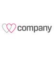 Cardiologist logo  heart icon vector