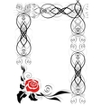Frame with abstract rose vector