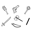 Weapons bw vector