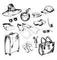 Collection of accessories for holidays vector