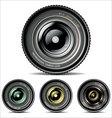 Camera lens set vector