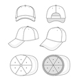 Cap template vector