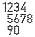 Bicycle chain numbers vector
