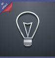 Light lamp icon symbol 3d style trendy modern vector
