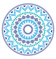 Tribal folk aztec geometric pattern in circle vector