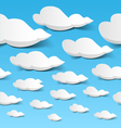 Seamless clouds vector