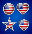 American badges vector