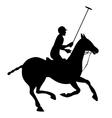 Horse polo silhouette poster vector