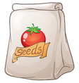 A pouch of tomato seeds vector