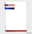 White paper with ribbon 4th of july happy vector