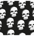 Skull seamless pattern vector