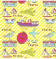 Vintage travel wallpaper vector