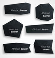 Set of abstract black banners modern style design vector
