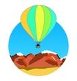 Air balloon on ridges vector
