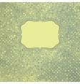 Vintage polka dot card vector