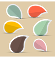 Paper stickers - labels in retro color design vector