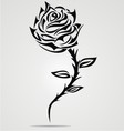 Rose flower tattoo design vector