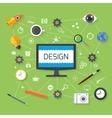 Web design and development concept vector