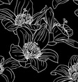 Seamless wallpaper with orchid flowers vector