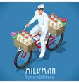 Milkman bicycle vintage isometric vector