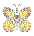Abstract mehndi butterfly - vector