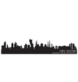 Abu dhabi uae skyline detailed silhouette vector