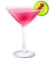 Cosmopolitan cocktail realistic vector