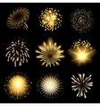 Fireworks set vector