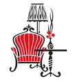 Armchair tattoo vector