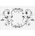 Abstract black floral ornament vector