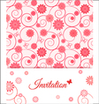 Floral card design for greeting card invitation vector